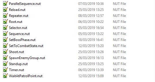 Folder with a few of the nut-files read by the script editor